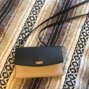 Kate spade clutch with crossbody strap